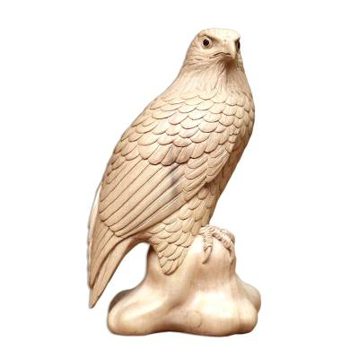 Wood sculpture, 'Eagle Pride' - Wood sculpture