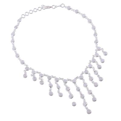 Artisan Jewelry Sterling Silver Choker Moonstone Necklace