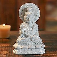 Soapstone sculpture, 'Beautiful Buddha'
