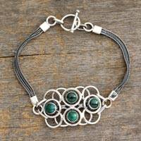Malachite bracelet, 'Surreal Green' - Malachite bracelet