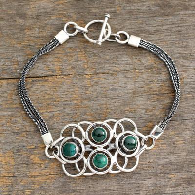 Malachite bracelet, 'Surreal Green' - Malachite bracelet