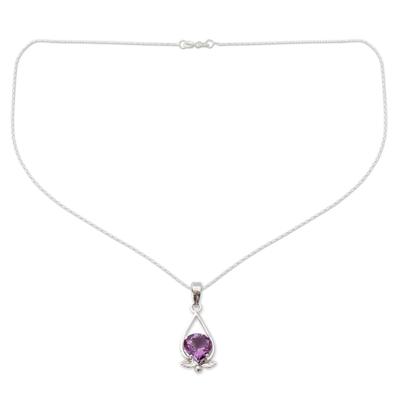 Amethyst pendant necklace, 'Sweet Spirit' - Amethyst pendant necklace