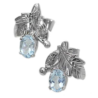 Fair Trade Blue Topaz and Silver Earrings