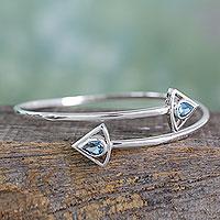 Topaz wrap bracelet, 'Forever Blue'