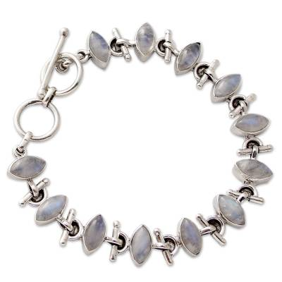 Sterling Silver Rainbow Moonstone Bracelet Fair Trade