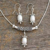 Pearl jewelry set, 'Mermaid Tears'