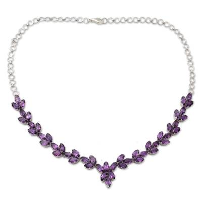 Amethyst Y-necklace, 'Gujarat Princess' - Amethyst Y-necklace