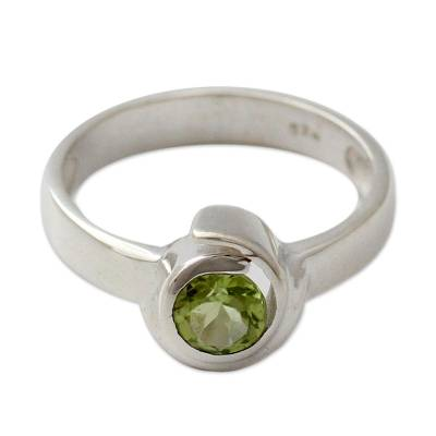 Handcrafted Sterling Silver Peridot Ring