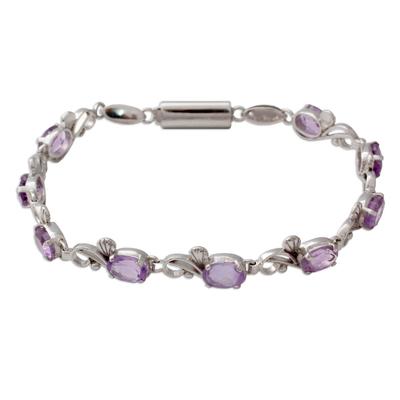 Amethyst tennis bracelet