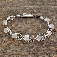 Moonstone bracelet, 'Sweet Jasmine'