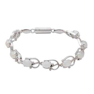 Moonstone bracelet, 'Sweet Jasmine' - Moonstone bracelet