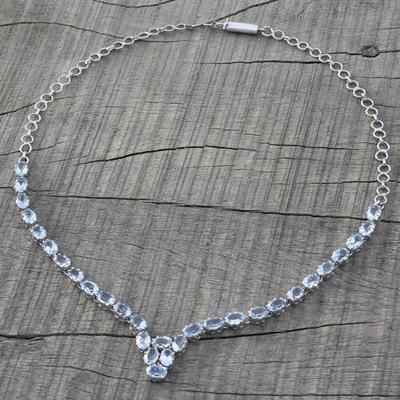Topaz necklace, 'Enchanted Blue' - Topaz necklace