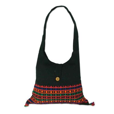 Novica Cotton shoulder bag, Classic Patterns