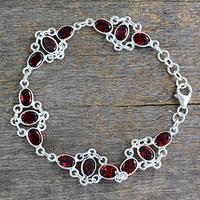 Garnet link bracelet, 'Ecstasy'