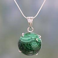 Malachite necklace, 'Heart's Desire' - Malachite necklace