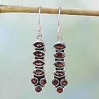 Garnet earrings, 'Incandescent Passion'