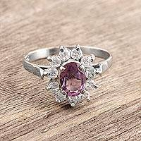 Amethyst cocktail ring, 'Violet Splendor' - Amethyst cocktail ring