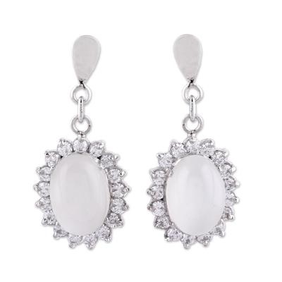 Moonstone dangle earrings, 'Romance' - Moonstone dangle earrings