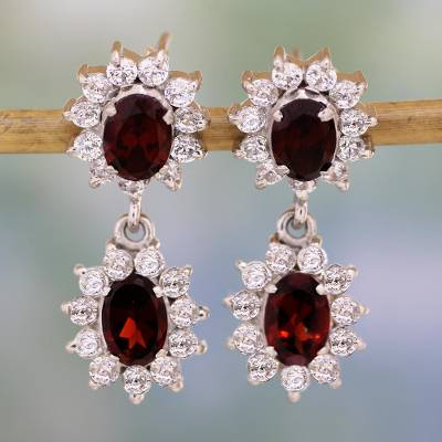 Garnet Earrings Glorious Red