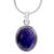 Lapis lazuli pendant necklace, 'Blue Destiny' - Fair Trade jewellery Lapis Lazuli and Sterling Silver Neckla (image 2a) thumbail