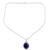 Lapis lazuli pendant necklace, 'Blue Destiny' - Fair Trade jewellery Lapis Lazuli and Sterling Silver Neckla (image 2b) thumbail