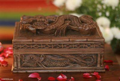 Carved Wood Jewelry Box