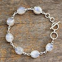 Featured review for Rainbow moonstone link bracelet, Mysteries