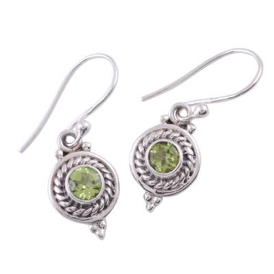 Fair Trade Jewelry Sterling Silver and Peridot Earrings