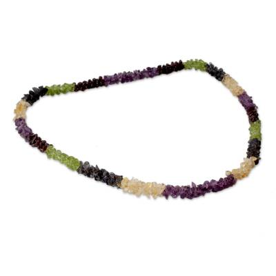 Natural Gemstone Necklace Colorful Jewelry