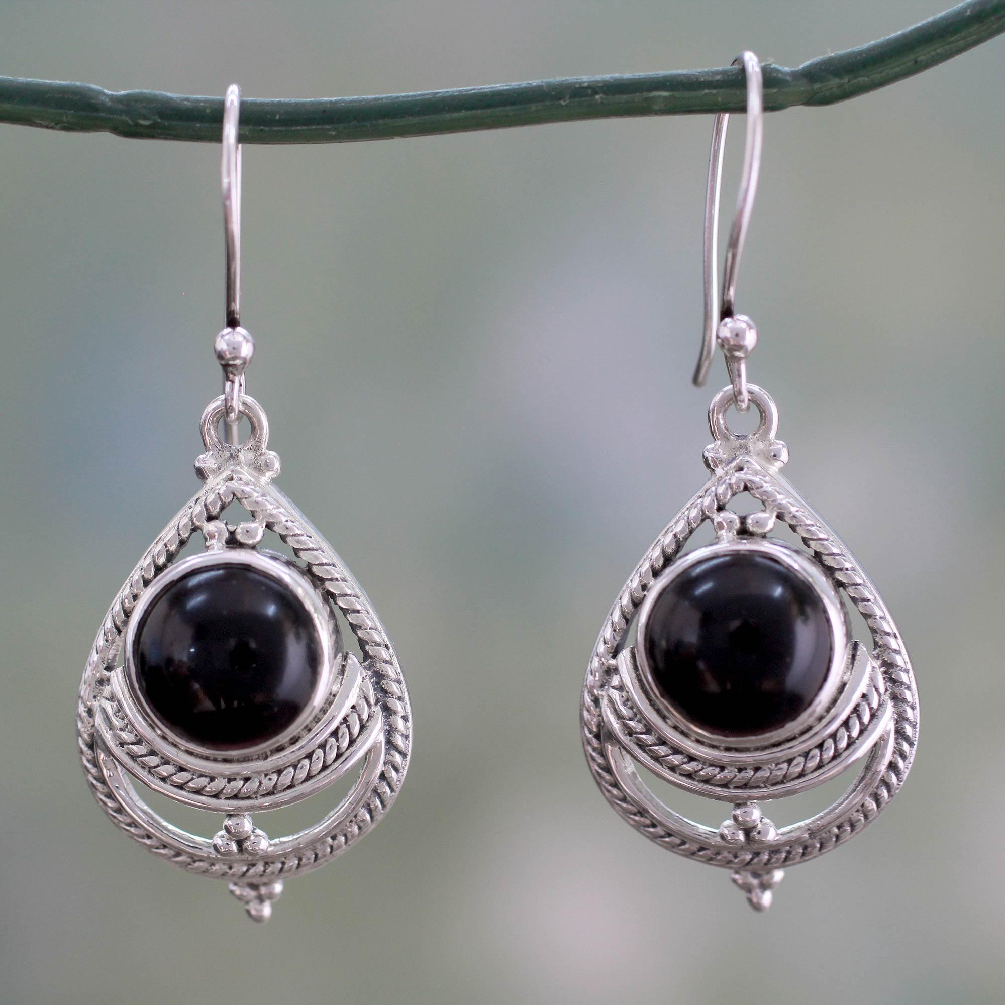 unicef uk market onyx earrings handmade with sterling