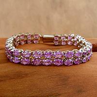 Amethyst bracelet, 'Mughal Princess' - Amethyst bracelet