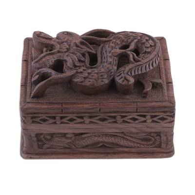Fair Trade Wood Jewelry Box from India