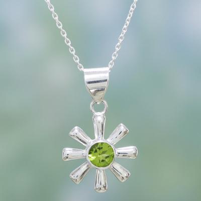 Peridot pendant necklace, 'Radiant Spring' - Peridot pendant necklace