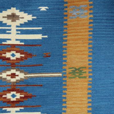 Handmade Indian Wool Dhurrie Rug (4x6