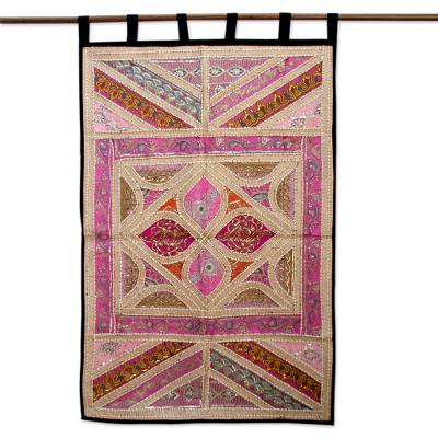 Kiva Store | Gujarati Cotton Wall Hanging Beaded Wall Art - Lavish ...