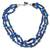 Lapis and chalcedony strand necklace, 'Ocean Moods' - Lapis and chalcedony strand necklace thumbail