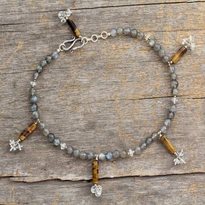 978b34259 Labradorite and blue topaz anklet - Mystic Dancer