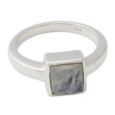 Moonstone Ring from India Sterling Silver Jewelry
