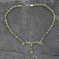 Quartz choker, 'Lovely Lemon' - Quartz choker