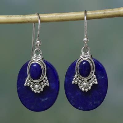 Lapis lazuli earrings, Constellations