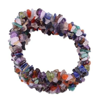 Hand Crafted Beaded Multigemstone Bracelet