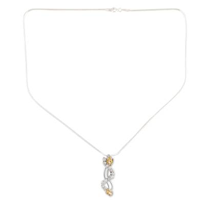 Citrine pendant necklace