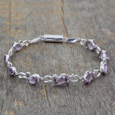 Amethyst bracelet, 'Mystic Dreams' - Amethyst bracelet