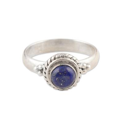 Hand Made Sterling Silver and Lapis Lazuli Ring