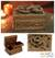Walnut wood jewelry box, 'Loyal Dragon' - Hand Carved Walnut Wood jewellery Box (image 2) thumbail