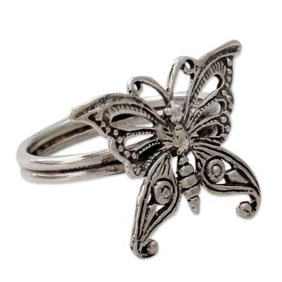 Sterling Silver Cocktail Ring from India Fair Trade Jewelry