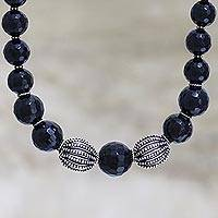 Onyx strand necklace, 'Grace' - Onyx strand necklace