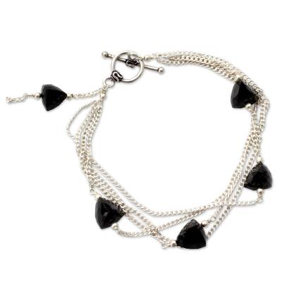 Onyx bracelet, 'Forever' - Onyx bracelet