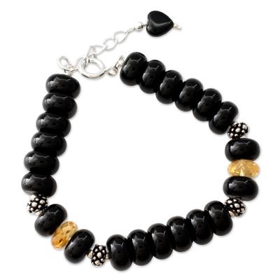 Fair Trade Beaded Onyx Bracelet