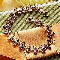 Featured review for Gold plated garnet link bracelet, Sisodia
